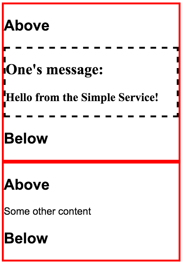 Two widgets