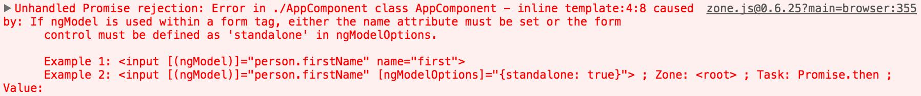 Name Attribute Error