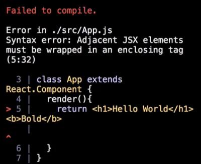 Adjacent JSX elements