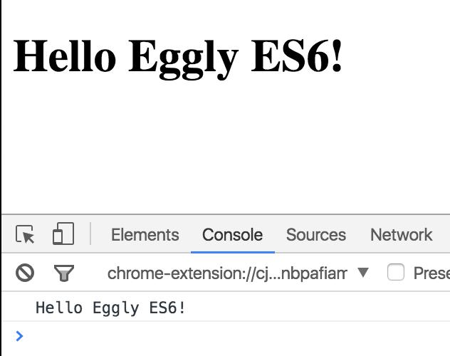 Hello, Eggly ES6