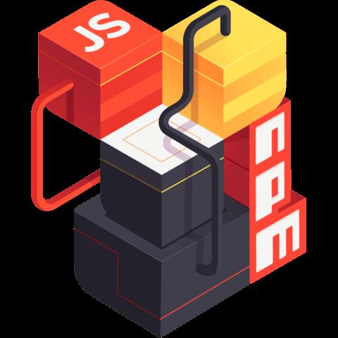 illustration for Publish JavaScript packages on npm