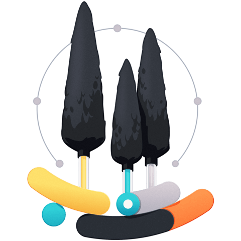 abstract illustration representing the course